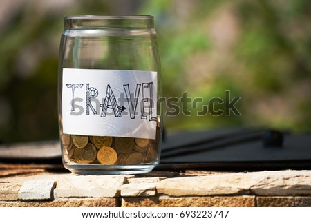 The savings for travel and vacation is opening at the summer time. Concept spend money and go travel,vacation #693223747