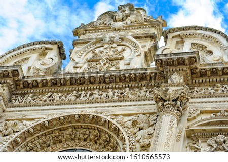 The sc ulptures on the facade of the church expose human sins, the forgiveness of which when repented is promised by God.