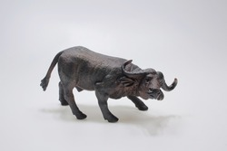 the scale of Bull figure made from plastic