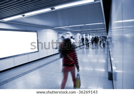 the scene of a subway station. #36269143