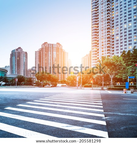 the scene of the century avenue in shanghai China