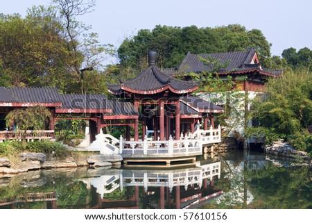 the scene of the chinese garden  in yuyuan shanghai china.