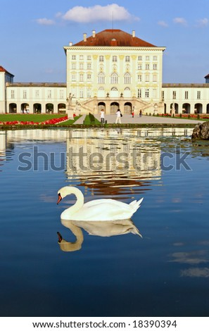 The scenery at the Nymphenburg palace in Munich Germany