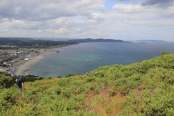 The Scenery from the summit of Bray Head, County Wicklow, Ireland.