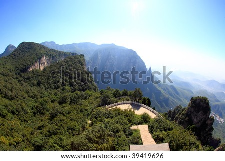 The scenery of Yun-Tai Mountain, a World Geologic Park and AAAAA Scenery Site in China #39419626