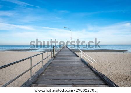 The scenery view of Altona beach, Melbourne, Australia.