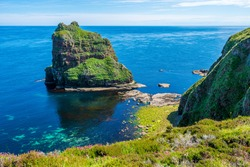 The scenic cliffs and stacks of Duncansby Head, Caithness, Scotland.