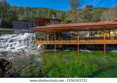 the scenic view of one of the springs of Köprüçay (Eurymedon) river at Köprülü Kanyon, Antalya Stok fotoğraf ©