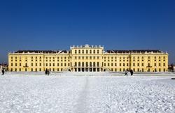 The Schönbrunn castle in Vienna