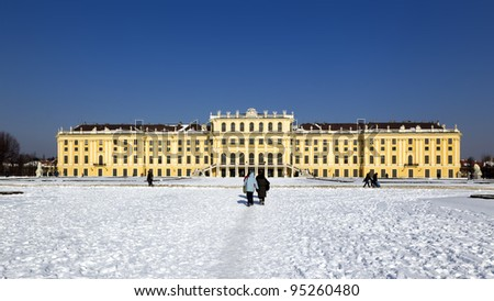 The Schönbrunn Castle in Vienna