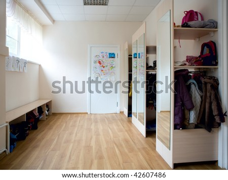 The school cloakroom