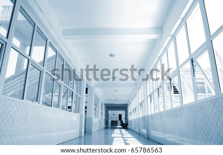 The school corridors, very sense of perspective.