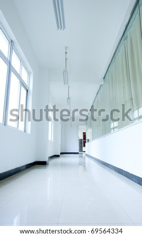 The school corridors, very sense of perspective.