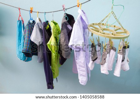 The school is open during the rainy season. So must dry the clothes in the shade, May cause damp odor.