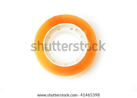 The scotchtape isolated on white background