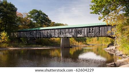 The Scott covered bridge near Townshend in Vermont