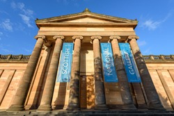 The Scottish National Gallery is the national art gallery of Scotland. It is located on The Mound in central Edinburgh, in a neoclassical building