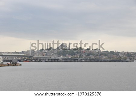The sea and scenery in Eminönü Stok fotoğraf ©
