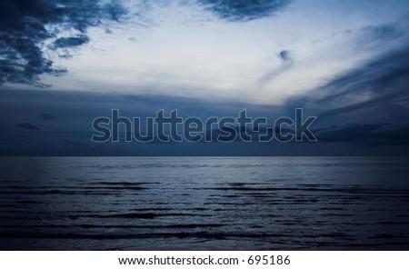 The Sea at Dusk - stock photo