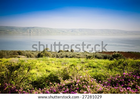 The Sea of Galilee. Location Of Many New Testament Stories.