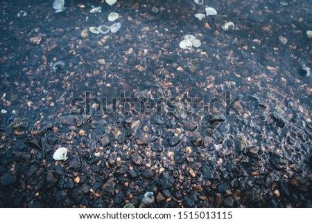 The Sea water and sea stones. Clear sea water and sea stones