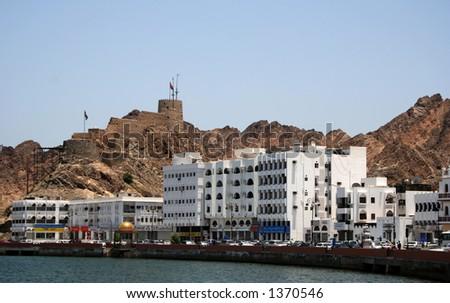 the seafront corniche in Muscat , Oman