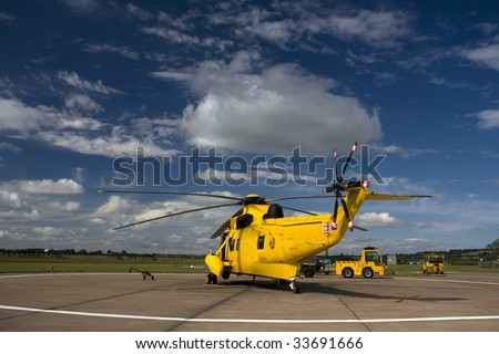 the seaking a Search and Rescue Helicopter