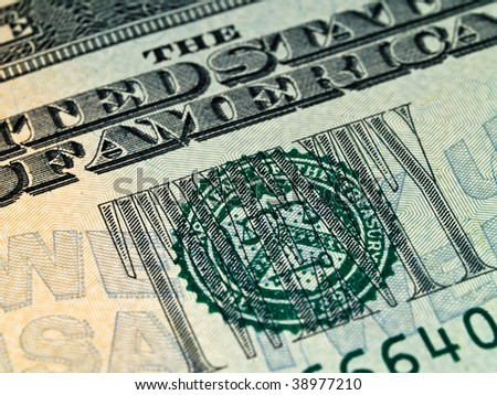 The Seal on the US $20 Dollar Bill