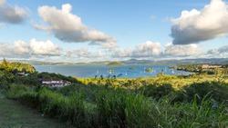 The seascape panorama in Martinique