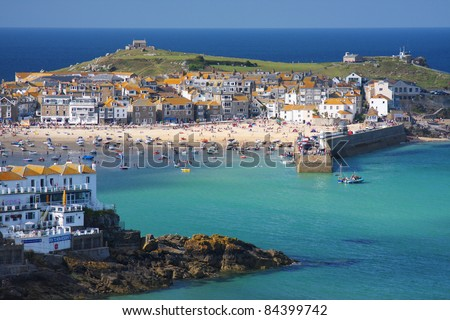 The seaside village of St. Ives in Cornwall