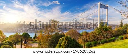 The Second Bosphorus Bridge or Fatih Sultan Mehmet Bridge, Istanbul Stock fotó ©