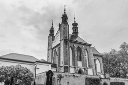 The Sedlec Ossuary is a small Roman Catholic chapel, located beneath the Cemetery Church of All Saints in Sedlec, a suburb of Kutna Hora in the Czech Republic. XIII centuries. Religion and travel.