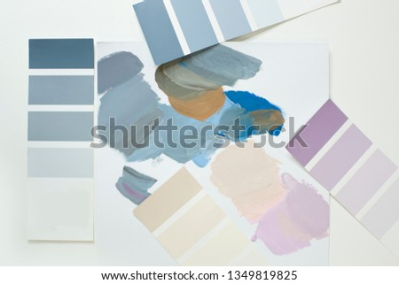 The selection of colors in the palette. Mixing and neutralizing colors. Interior colors, interior colors #1349819825
