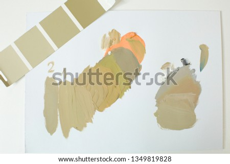 The selection of colors in the palette. Mixing and neutralizing colors. Interior colors, interior colors #1349819828