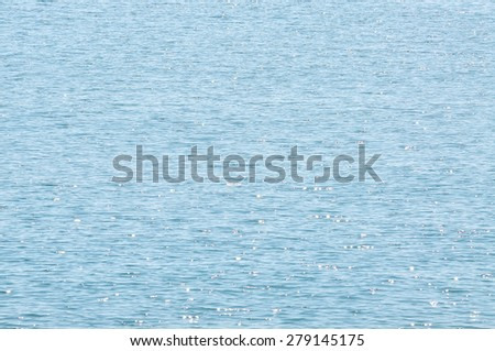 The Selective Focus Of Water surface with waves glittering in the sun with sun glares reflected