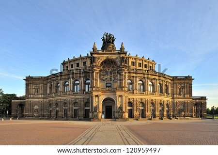 The Semper Opera house of Dresden, Germany