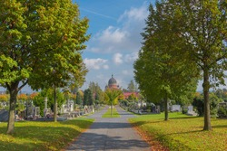 The Serbian-Orthodox church of Saint Kyrill and Method at the central cemetery in Graz, Styria region, Austria