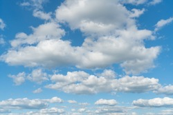 The serenity of nature, blue sky with white clouds background texture