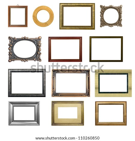the set of  frame isolated on white background