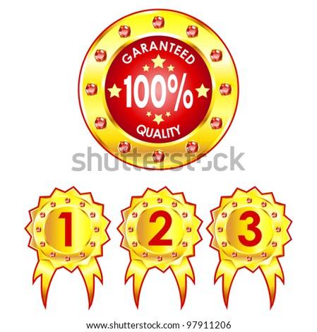 The set of golden badges.
