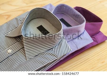 The set of stylish men's shirts made of cotton