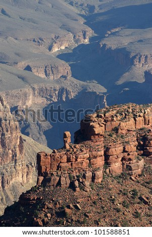 The shadows and shapes of the majestic Grand Canyon