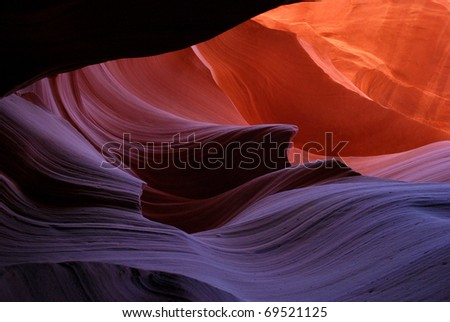The Shape Of A Wave In Lower Antelope Canyon