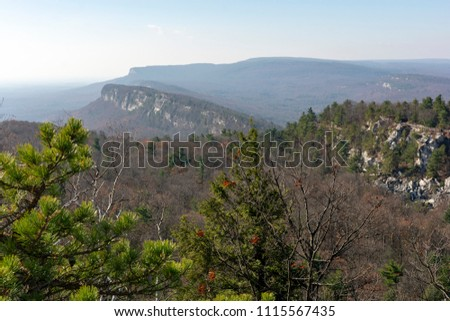 The Shawangunk Ridge, also known as the Shawangunk Mountains or The Gunks, is a ridge of bedrock in the state of New York, extending from the northernmost point of New Jersey to the Catskill Mountains