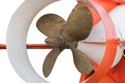 the ship propeller of deep-sea manned vehicle for oceanographic research and rescue operations