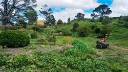 The shire in the Hobbiton park located in Matamata, Newzealand.