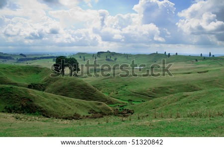 The Shire in the Lord of the Rings was set in this rolling countryside valley in New Zealand