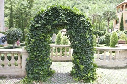 The Shot of Garden Arch taken in the place called