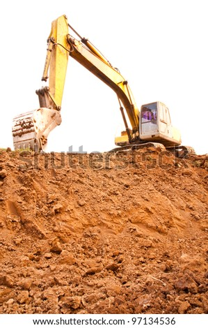 The shovel loader. - stock photo