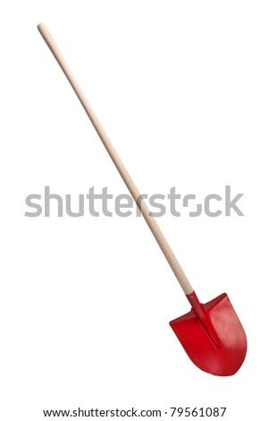 the shovel on white background